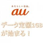 auのデータ定額1GBプランは毎月割が適用されない残念プラン